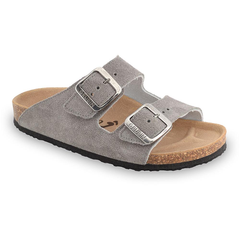 ARIZONA Women's slippers - suede leather (36-42) - grey, 41
