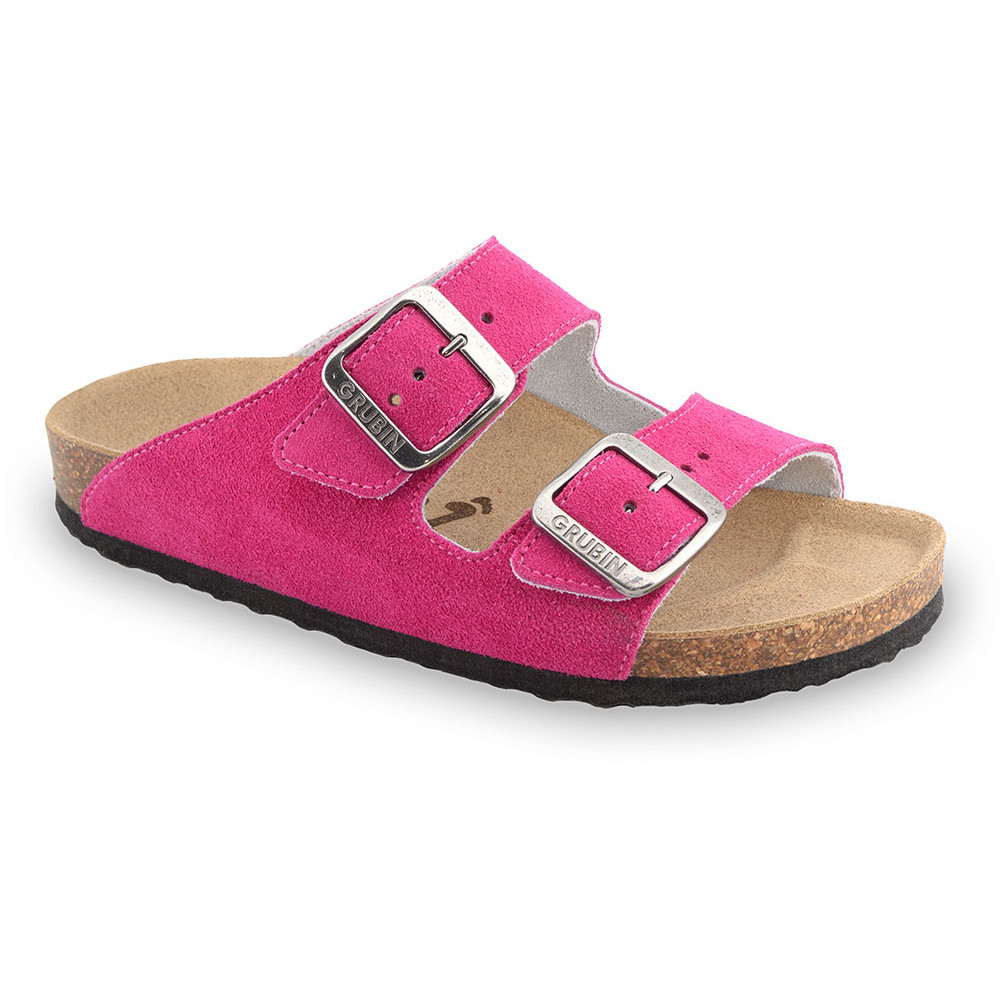 ARIZONA Women's slippers - suede leather (36-42) - pink, 38