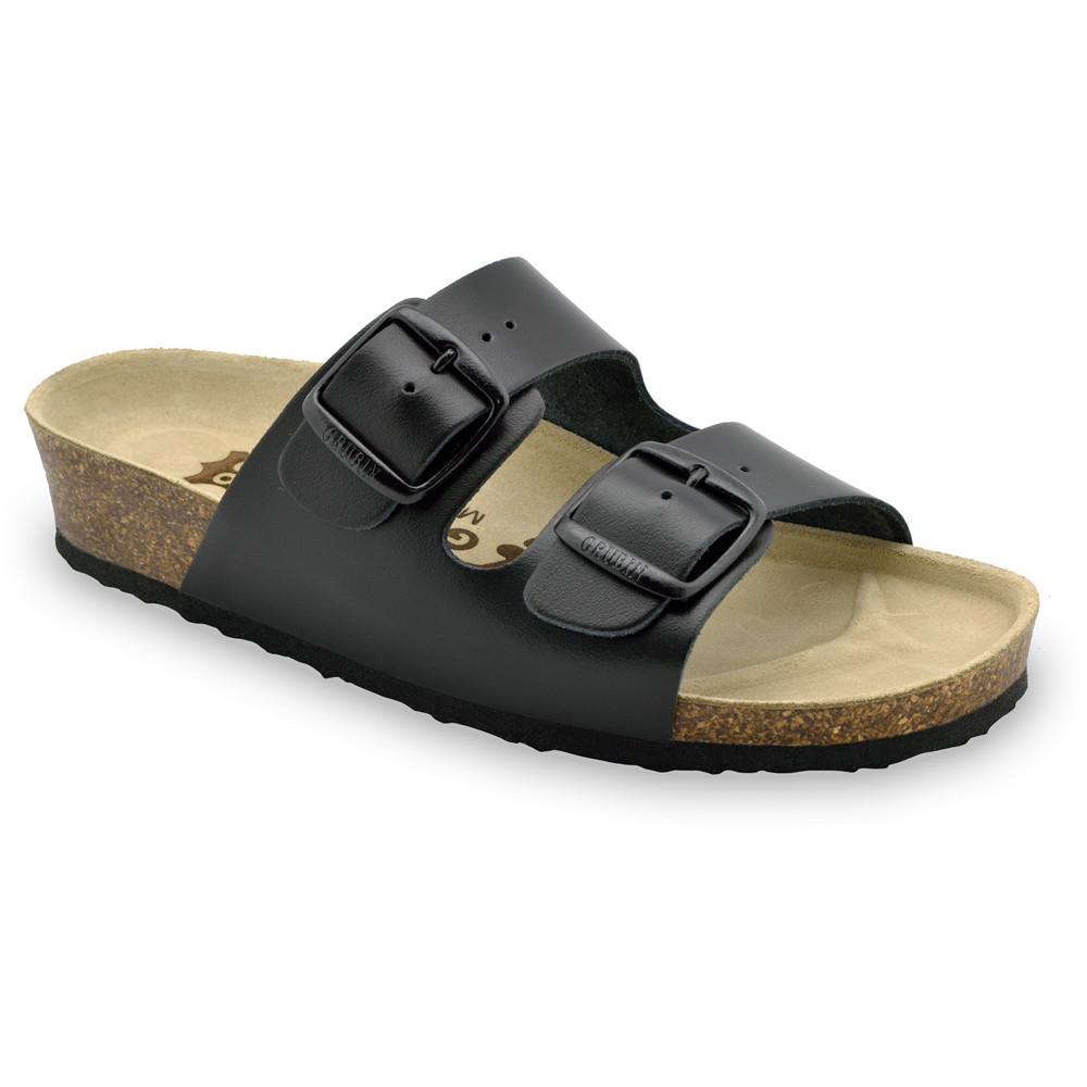 ARIZONA Women's slippers - leather (36-42) - black, 40