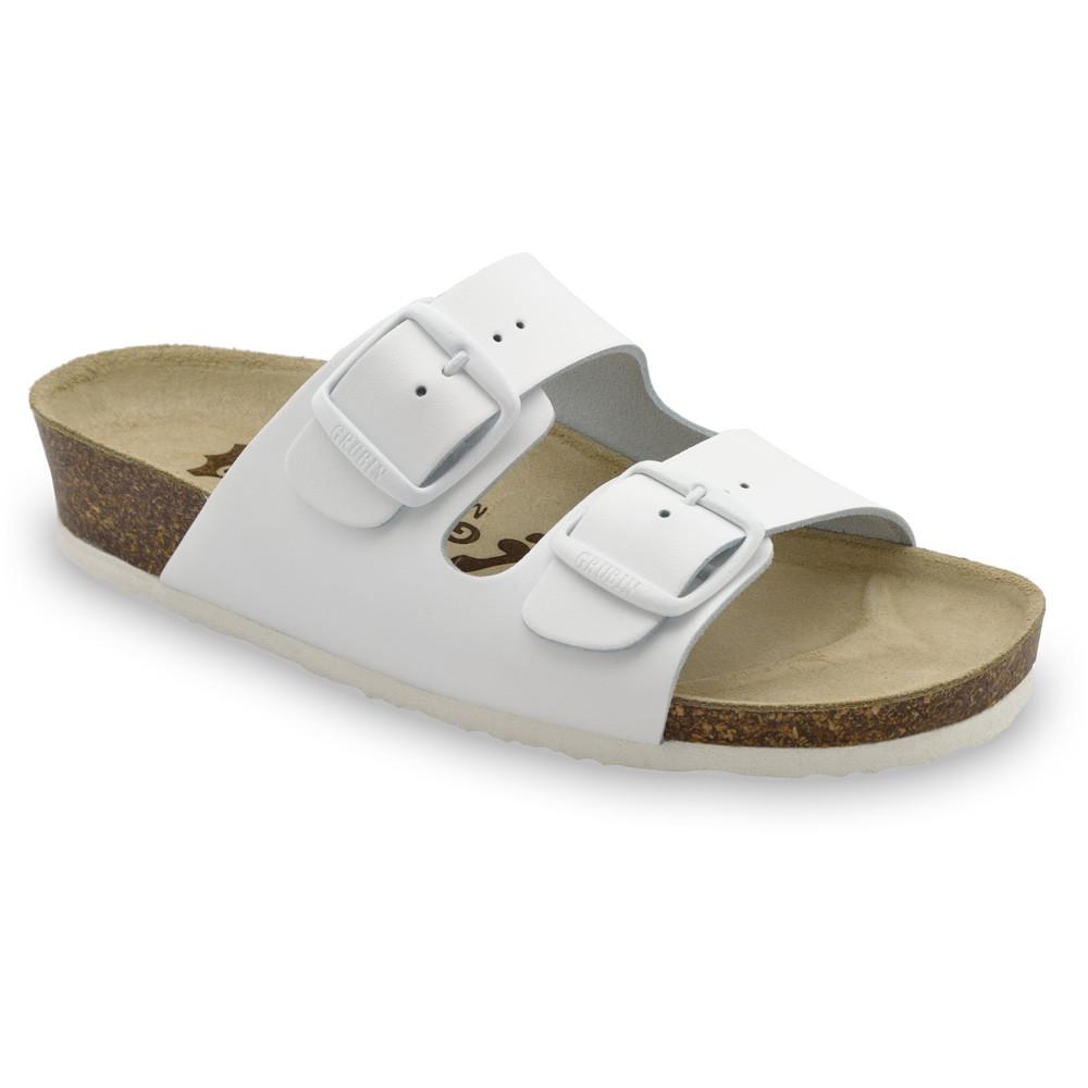 ARIZONA Women's slippers - leather (36-42) - white, 36