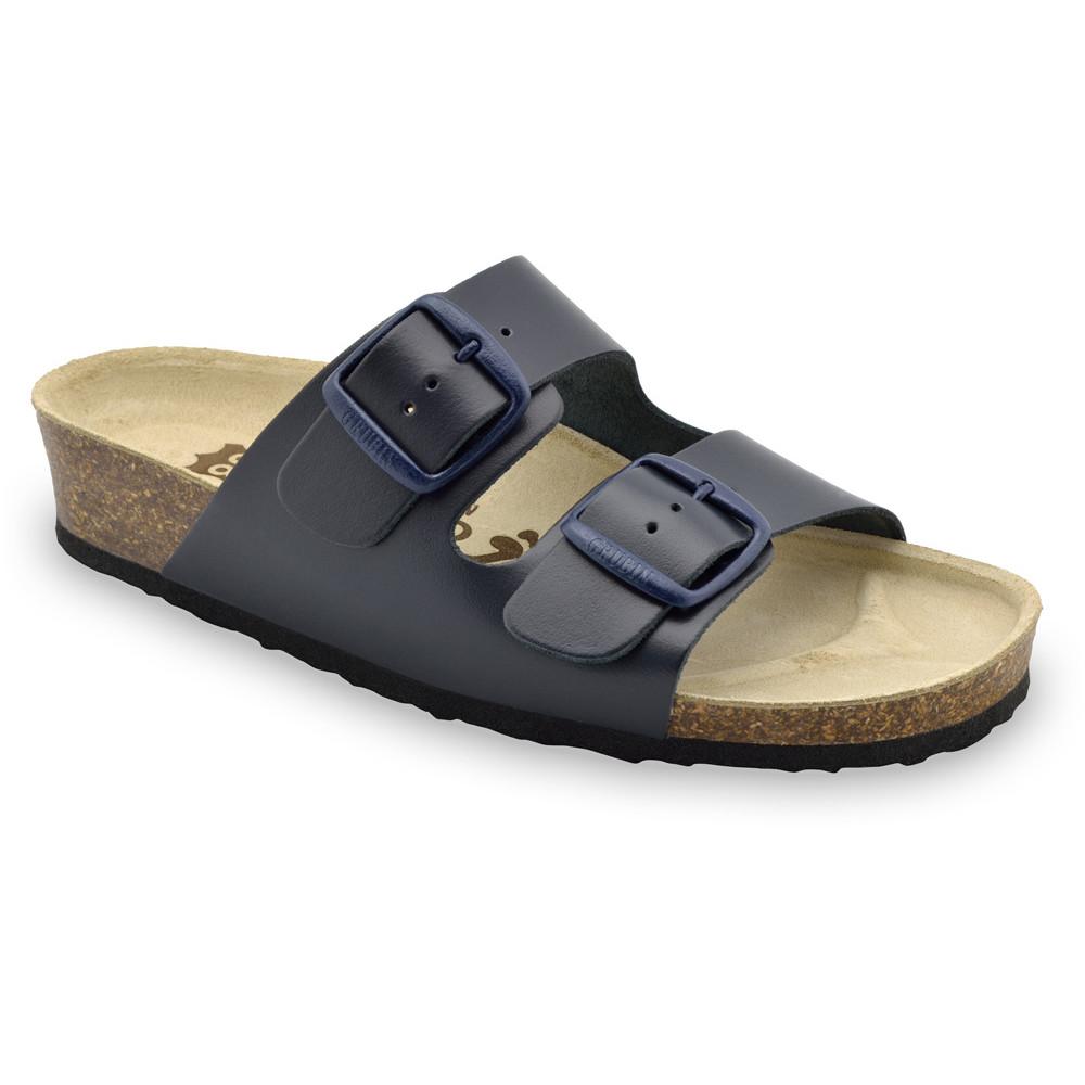ARIZONA Women's slippers - leather (36-42) - blue, 41