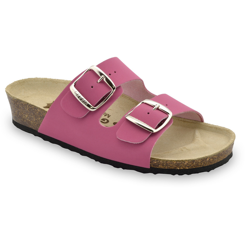 ARIZONA Women's slippers - leather (36-42) - light pink, 36