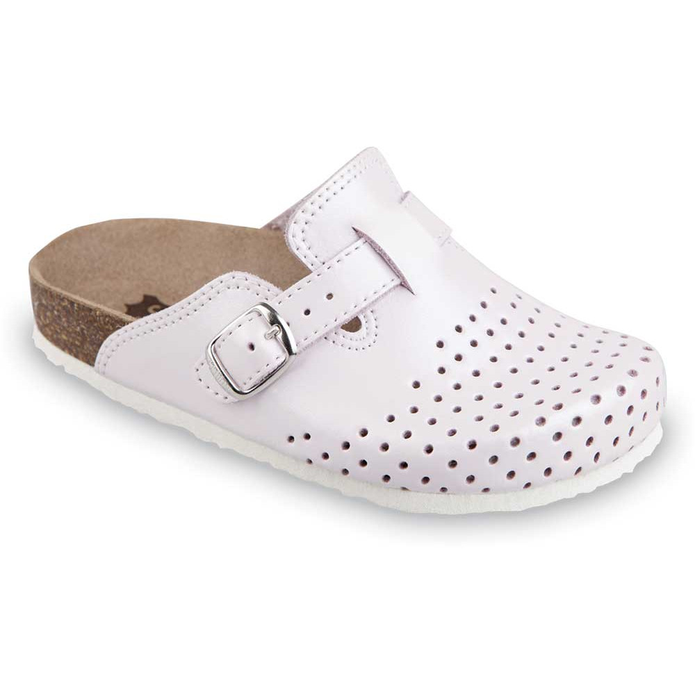 RIM Kids leather closed slippers (27-35) - light pink, 31