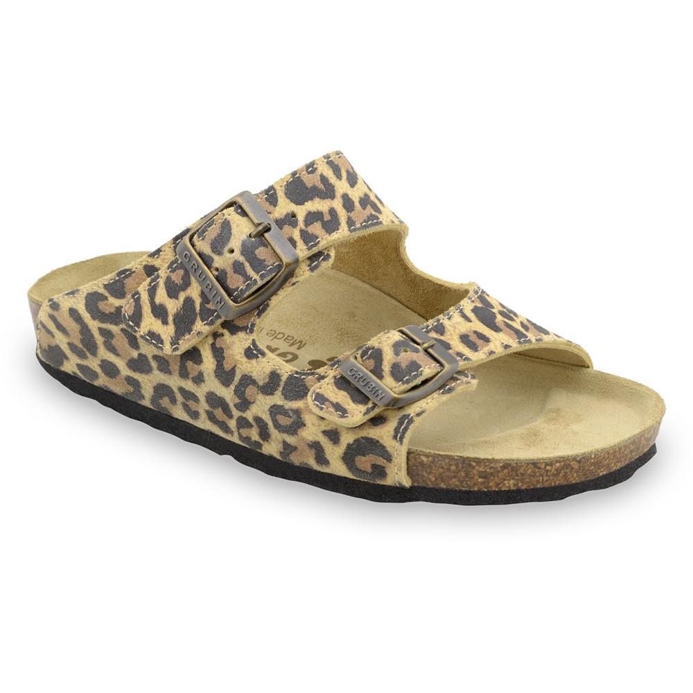 KAIRO Women's slippers - leather (36-42) - leopard, 39