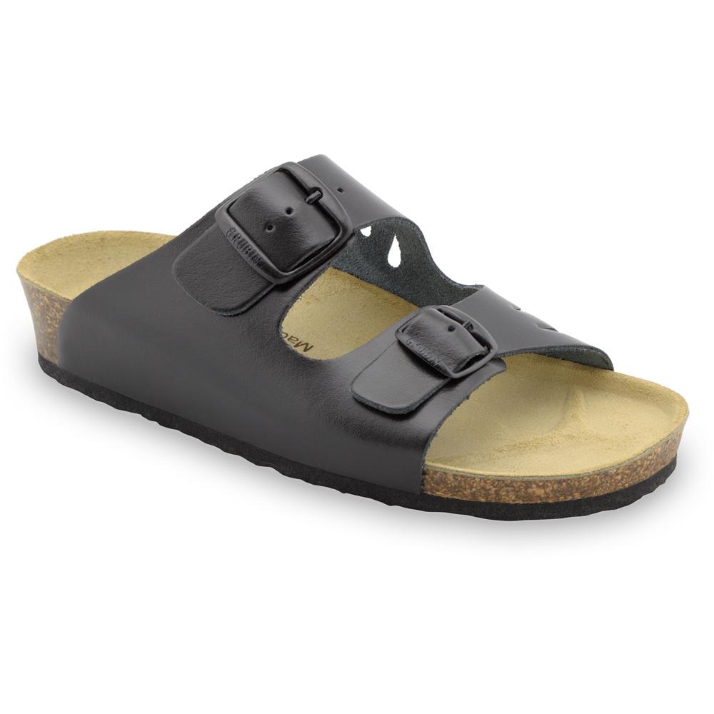 KAIRO Women's slippers - leather (36-42) - black, 36