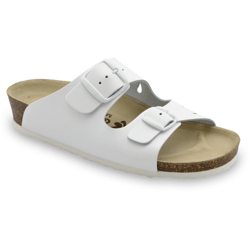 KAIRO Women's slippers - leather (36-42) - white, 40