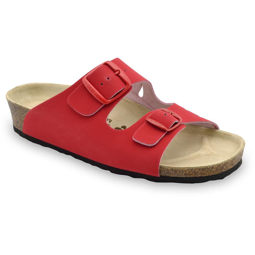 KAIRO Women's slippers - leather (36-42) - red, 37