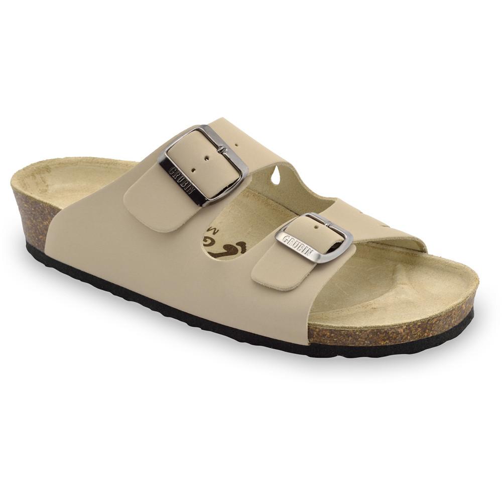 KAIRO Women's slippers - leather (36-42) - cream, 36