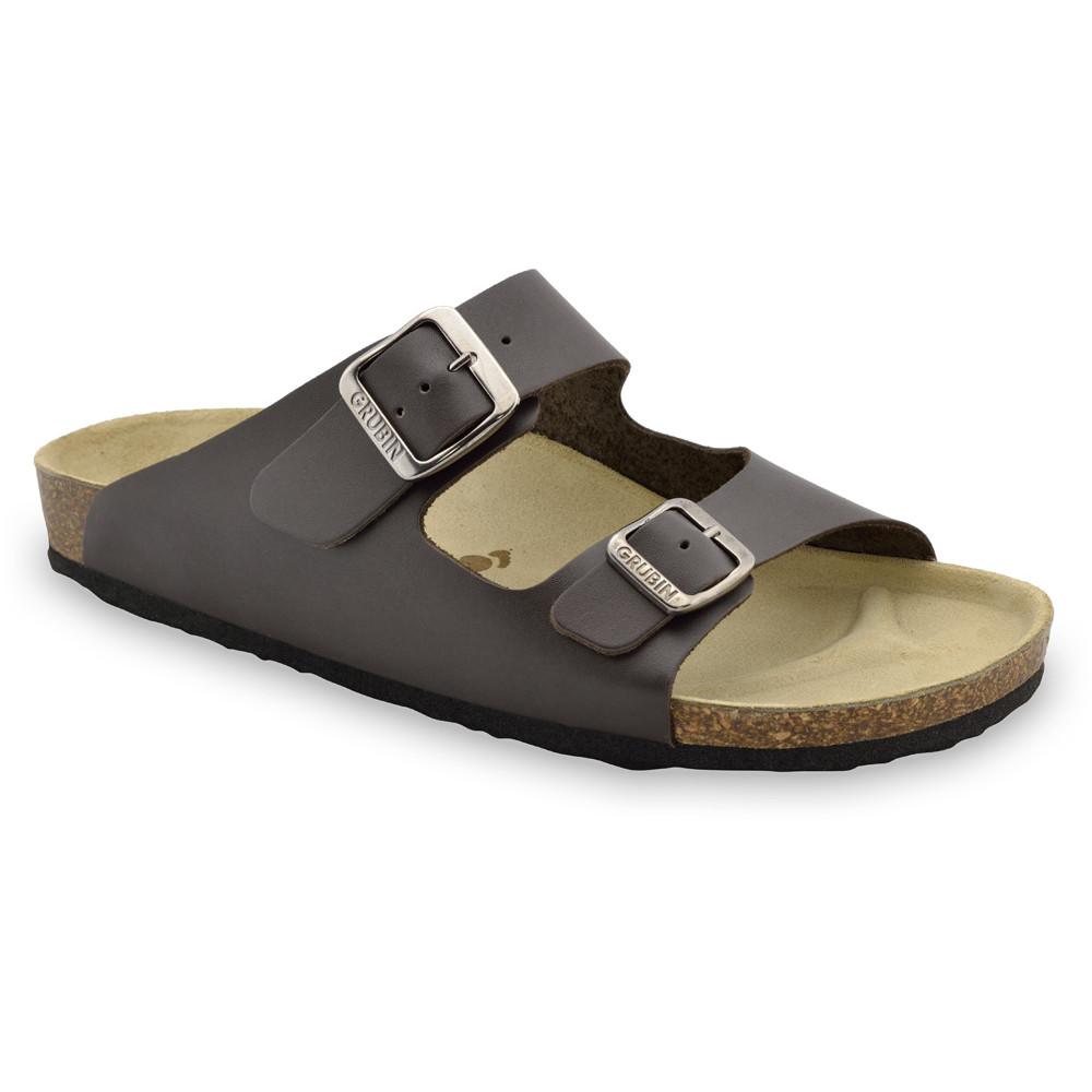 KAIRO Men's slippers - leather (40-49) - brown, 44