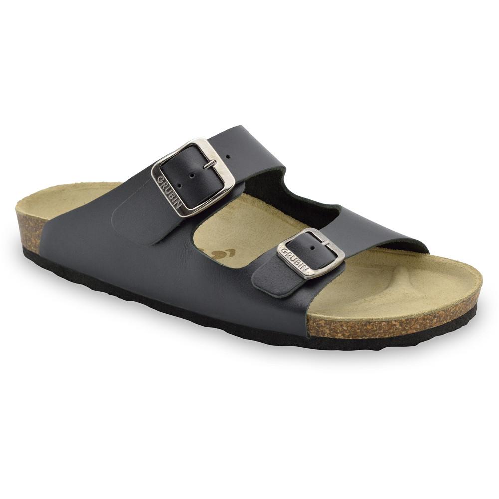 KAIRO Men's slippers - leather (40-49) - black, 46