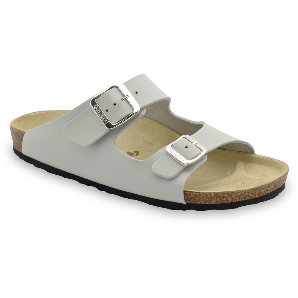 KAIRO Men's slippers - leather (40-49) - grey, 46