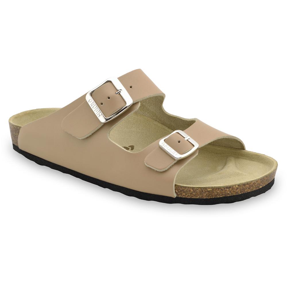 KAIRO Men's slippers - leather (40-49) - light brown, 41