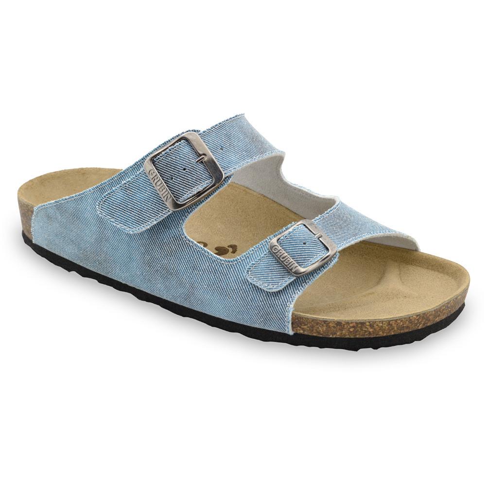 KAIRO Men's slippers - cloth (40-49) - light blue, 43