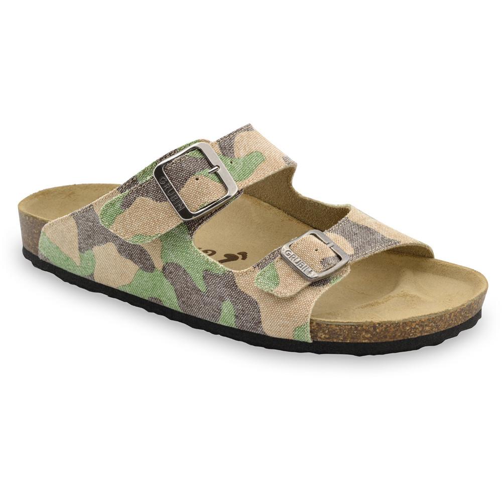 KAIRO Men's slippers - cloth (40-49) - military, 48