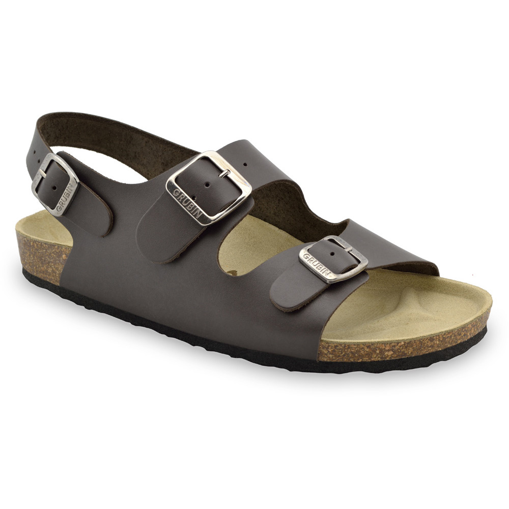 MILANO Men's sandals - leather (40-49) - brown, 48
