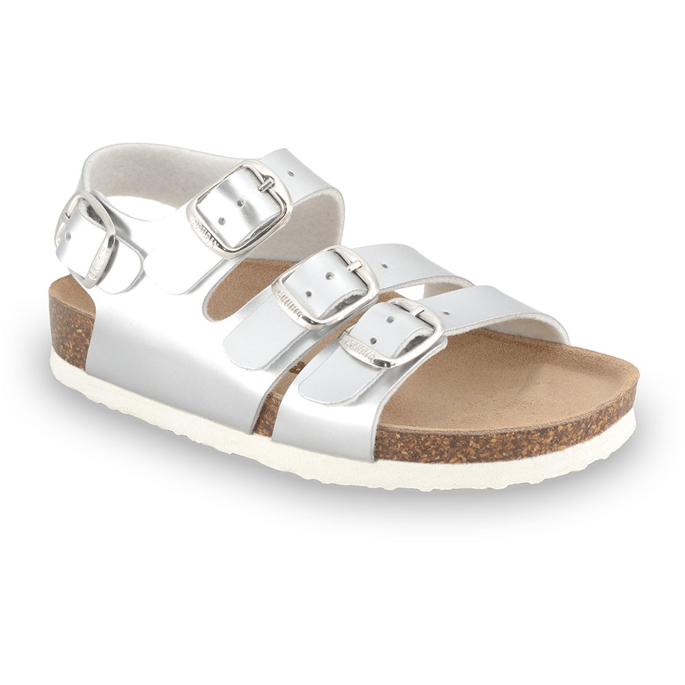CAMBERA Kids sandals - leatherette (23-29) - silver, 29
