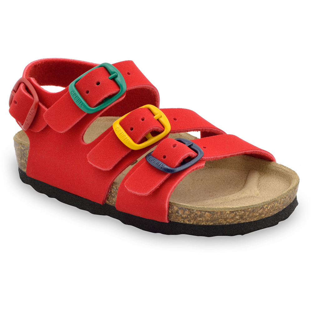 CAMBERA Kids sandals - leatherette (30-35) - red, 34