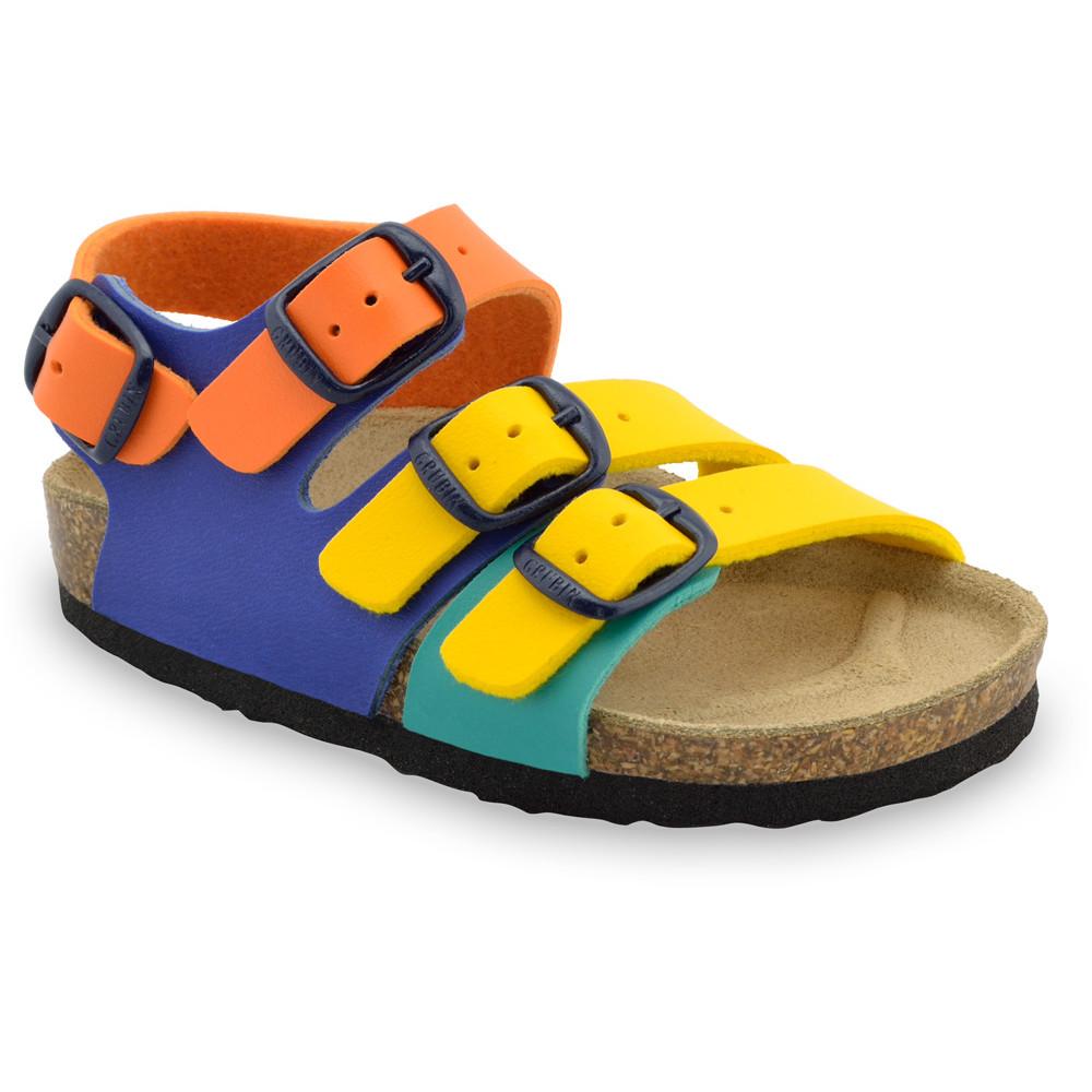 CAMBERA Kids sandals - leatherette (30-35) - yellow, 35