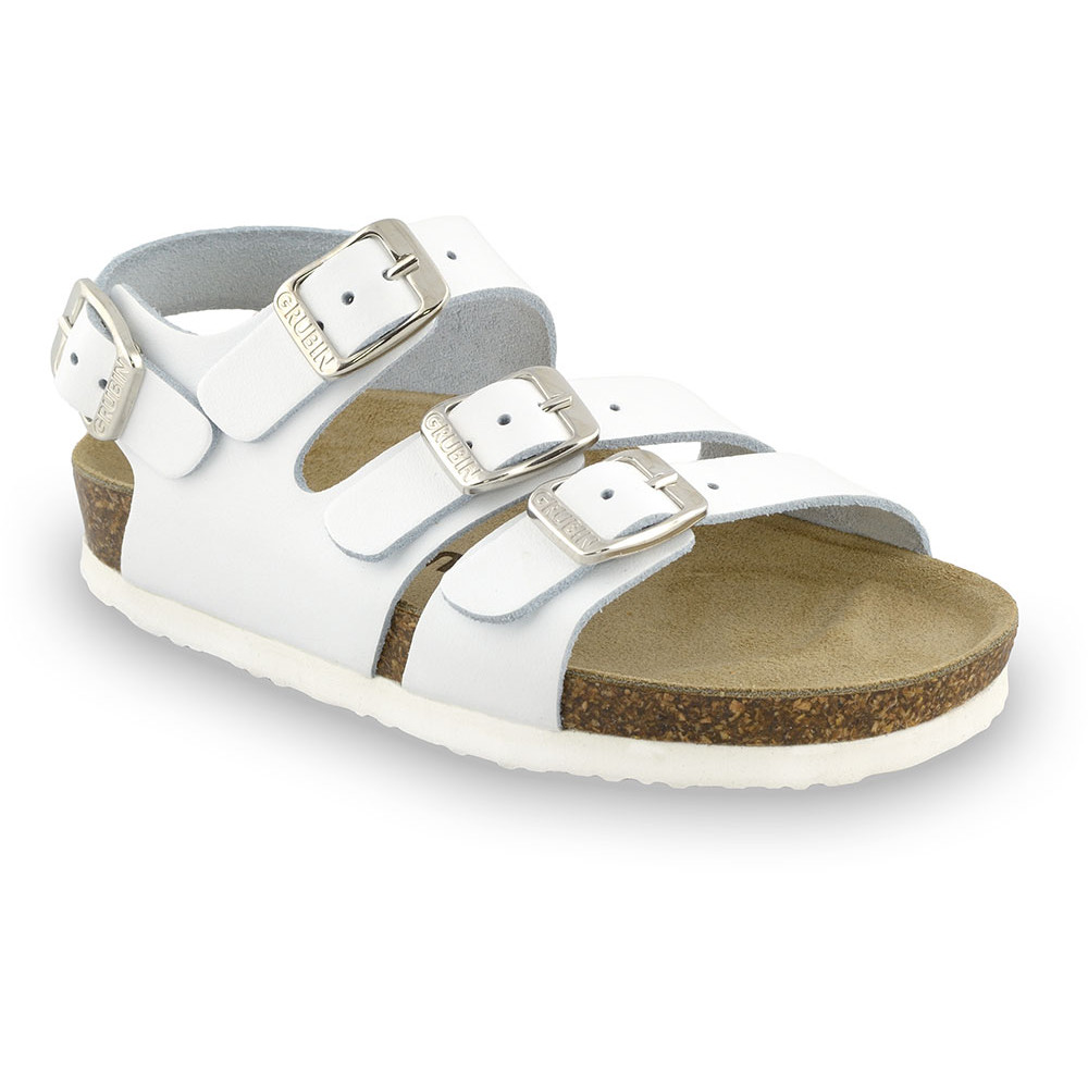 Camber Kids leather sandals (30-35) - white, 32