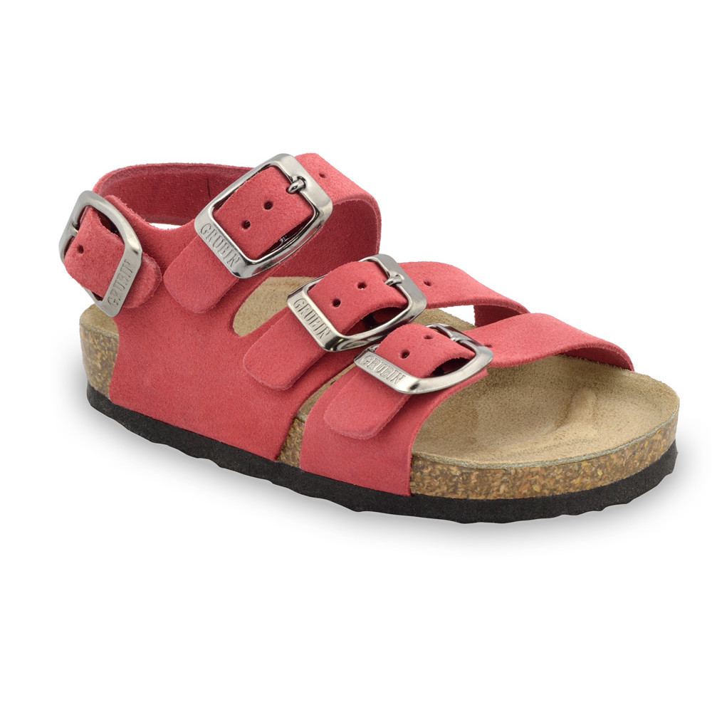 Camber Kids leather sandals (30-35) - red, 32