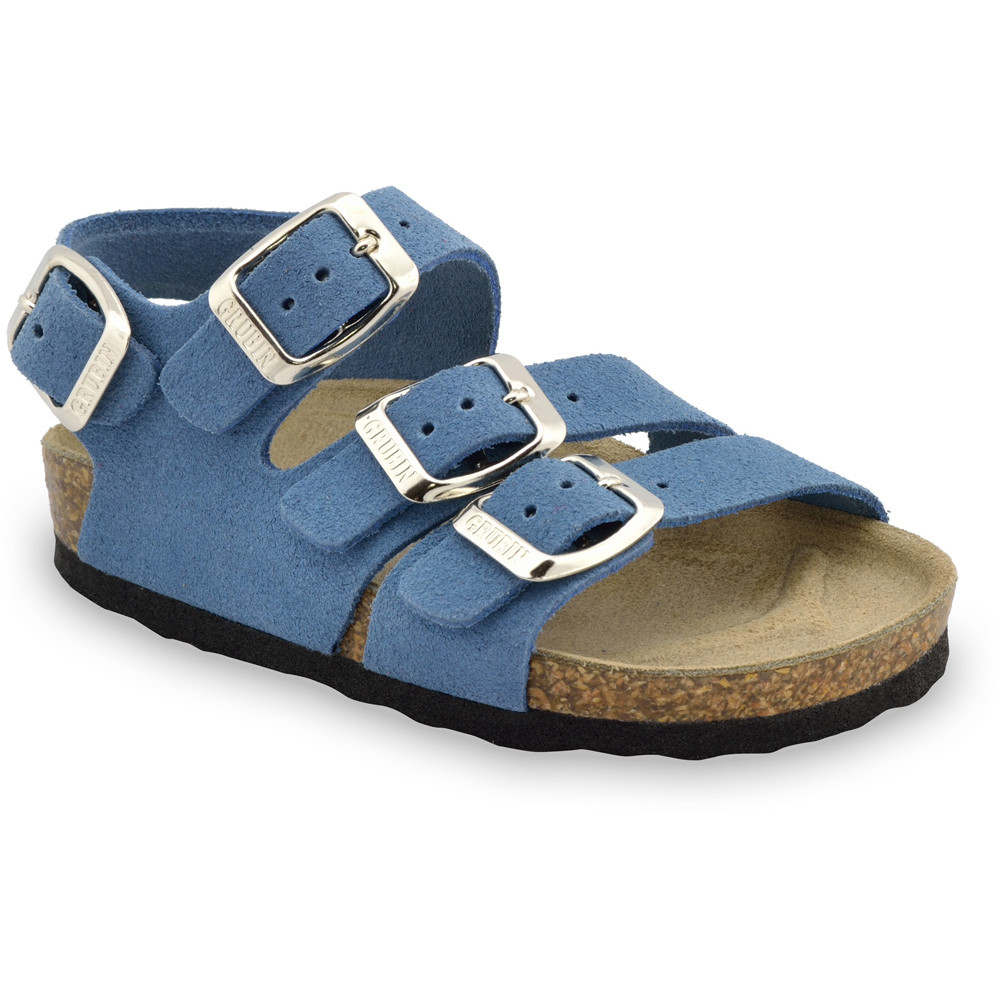 Camber Kids leather sandals (30-35) - light blue, 35