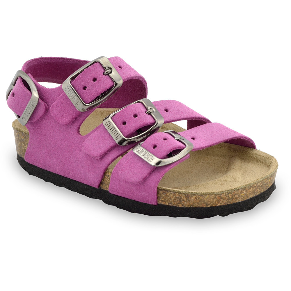 Camber Kids leather sandals (30-35) - purple, 30