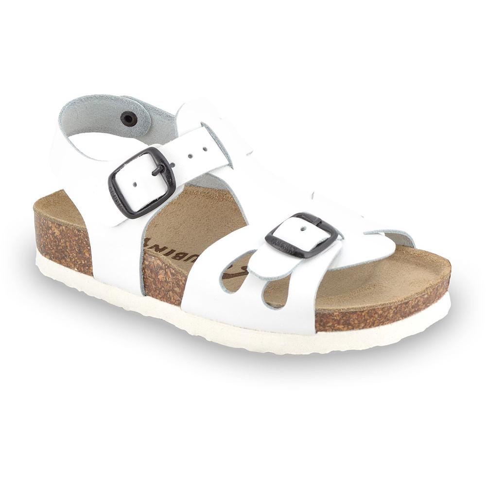 ORLANDO Kids leather sandals (30-35) - white, 31