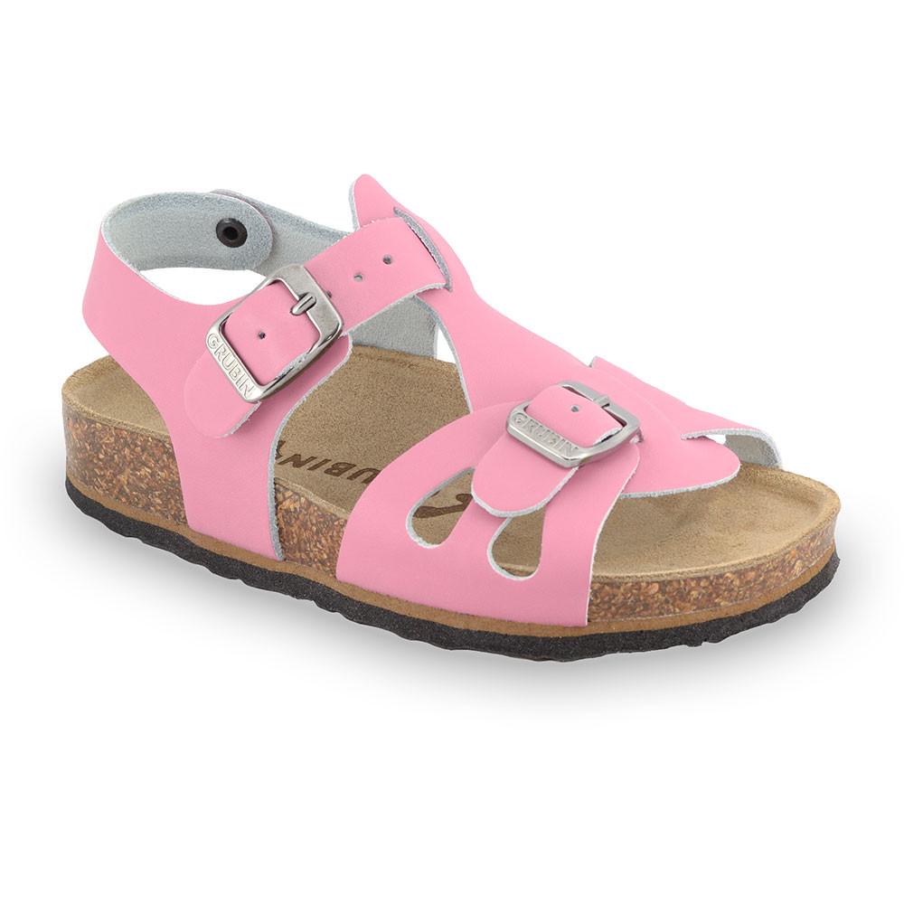 ORLANDO Kids leather sandals (30-35) - pink, 31