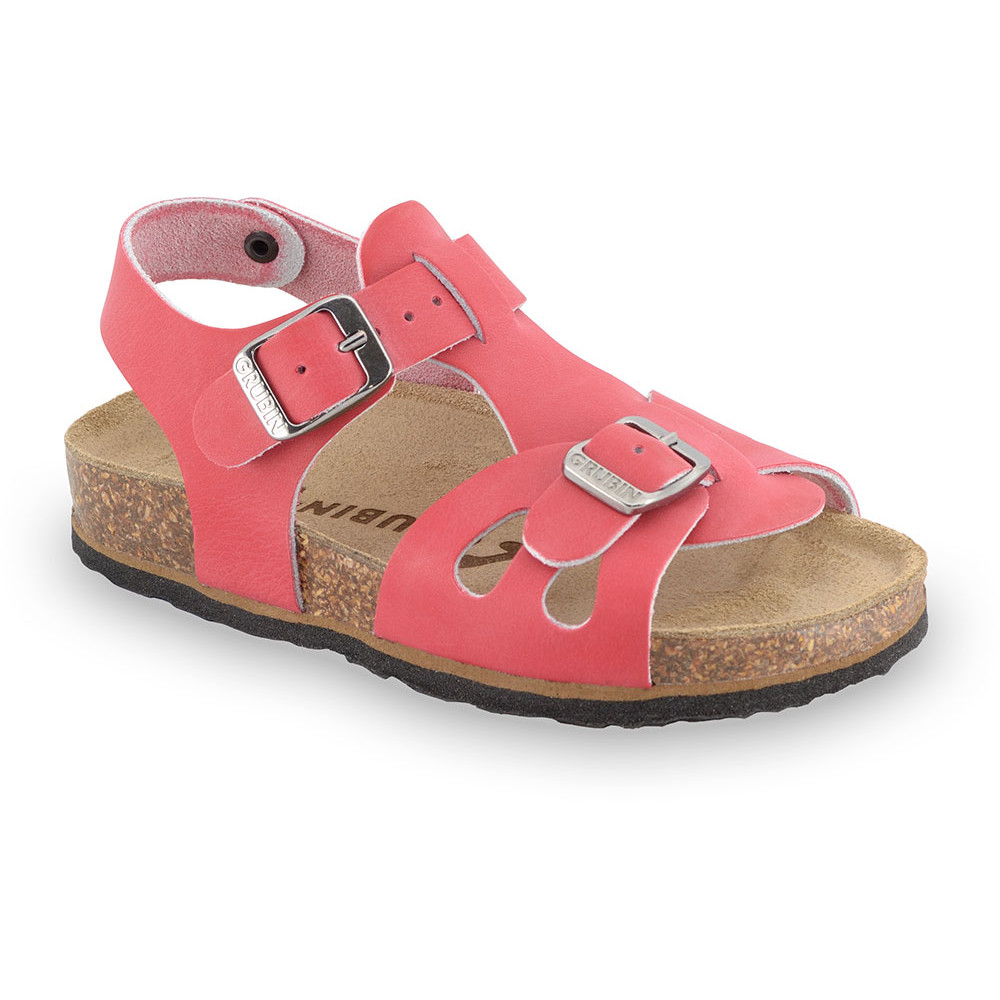 ORLANDO Kids leather sandals (30-35) - red, 35