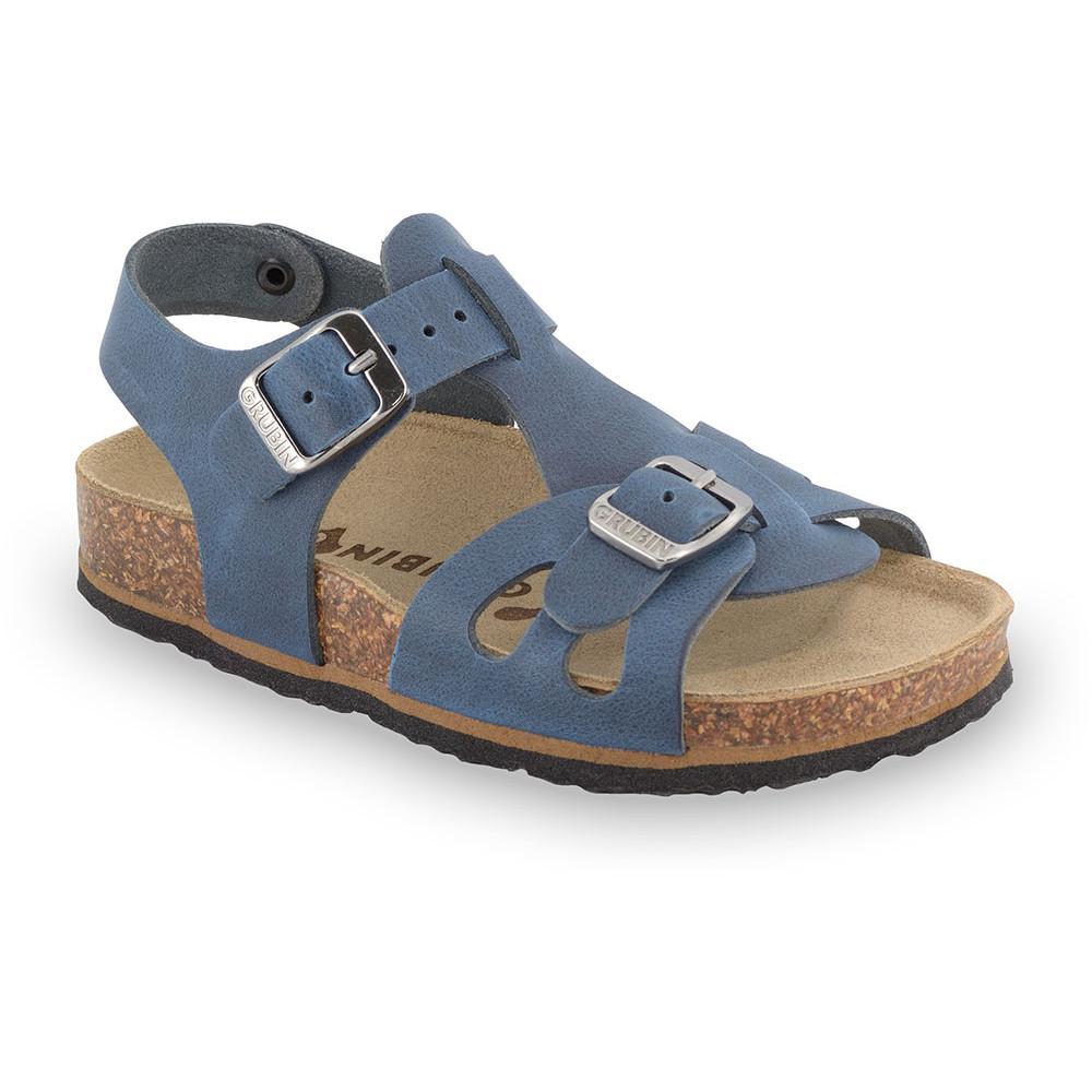 ORLANDO Kids leather sandals (30-35) - blue, 33