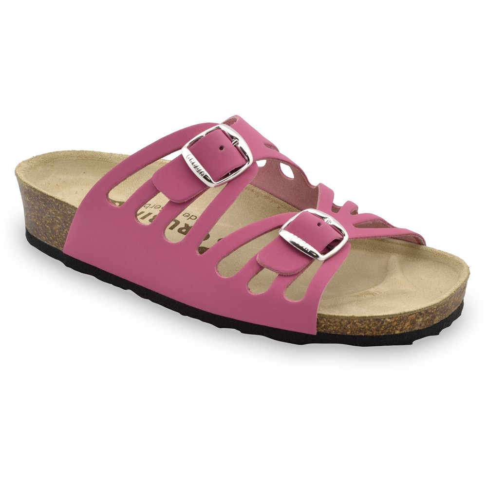 DERBY Women's slippers - leather (36-42) - pink, 36