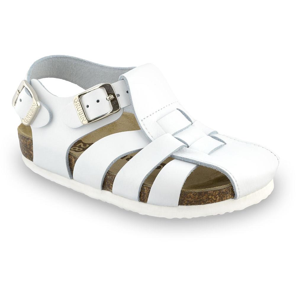 PAPILIO Kids sandals - leather (23-30) - white, 23