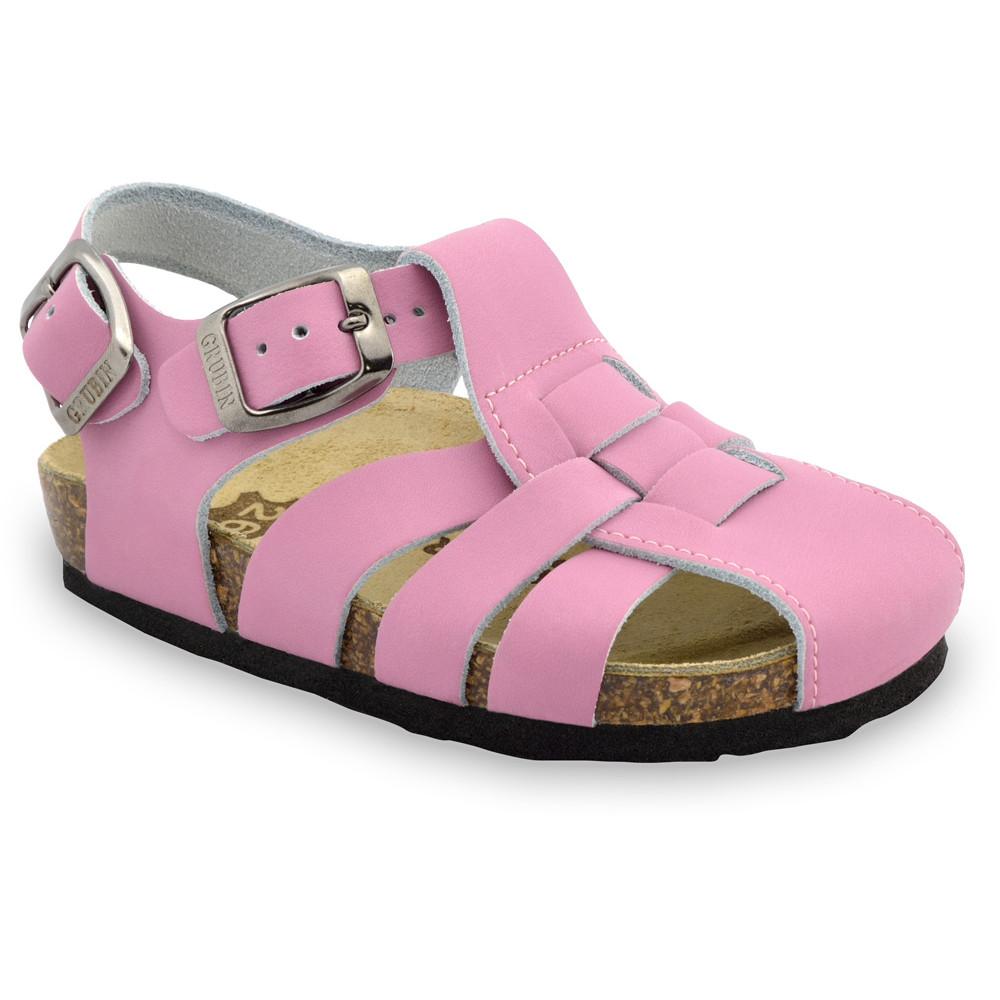 PAPILIO Kids sandals - leather (23-30) - light pink, 25