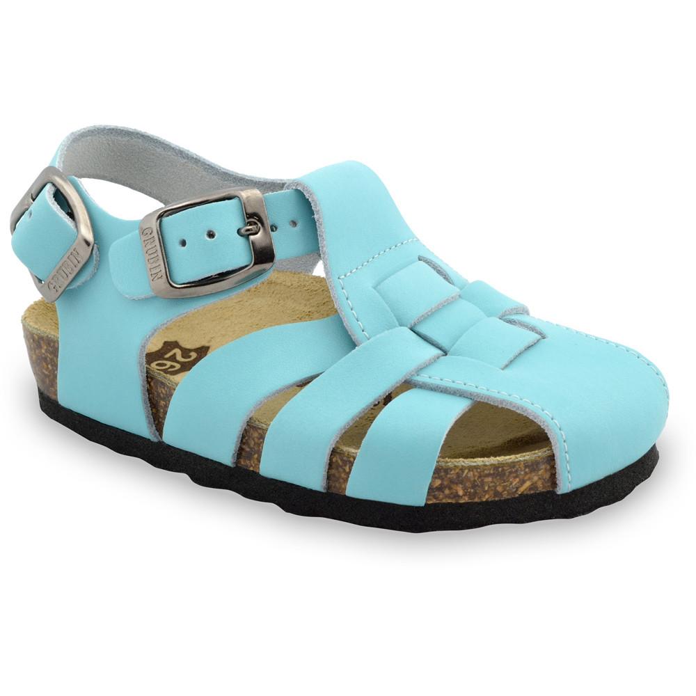 PAPILIO Kids sandals - leather (23-30) - light blue, 30