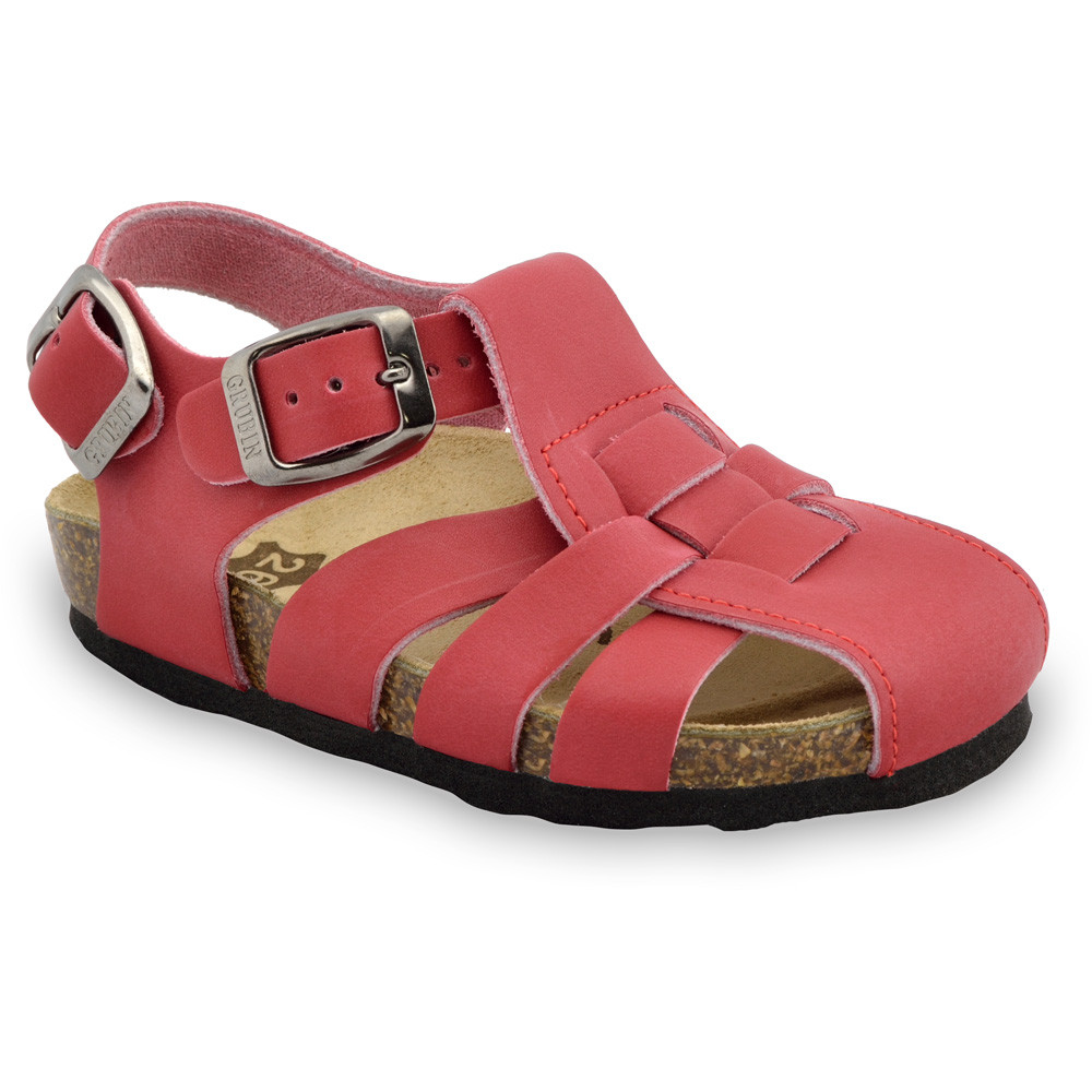 PAPILIO Kids sandals - leather (23-30) - red, 26