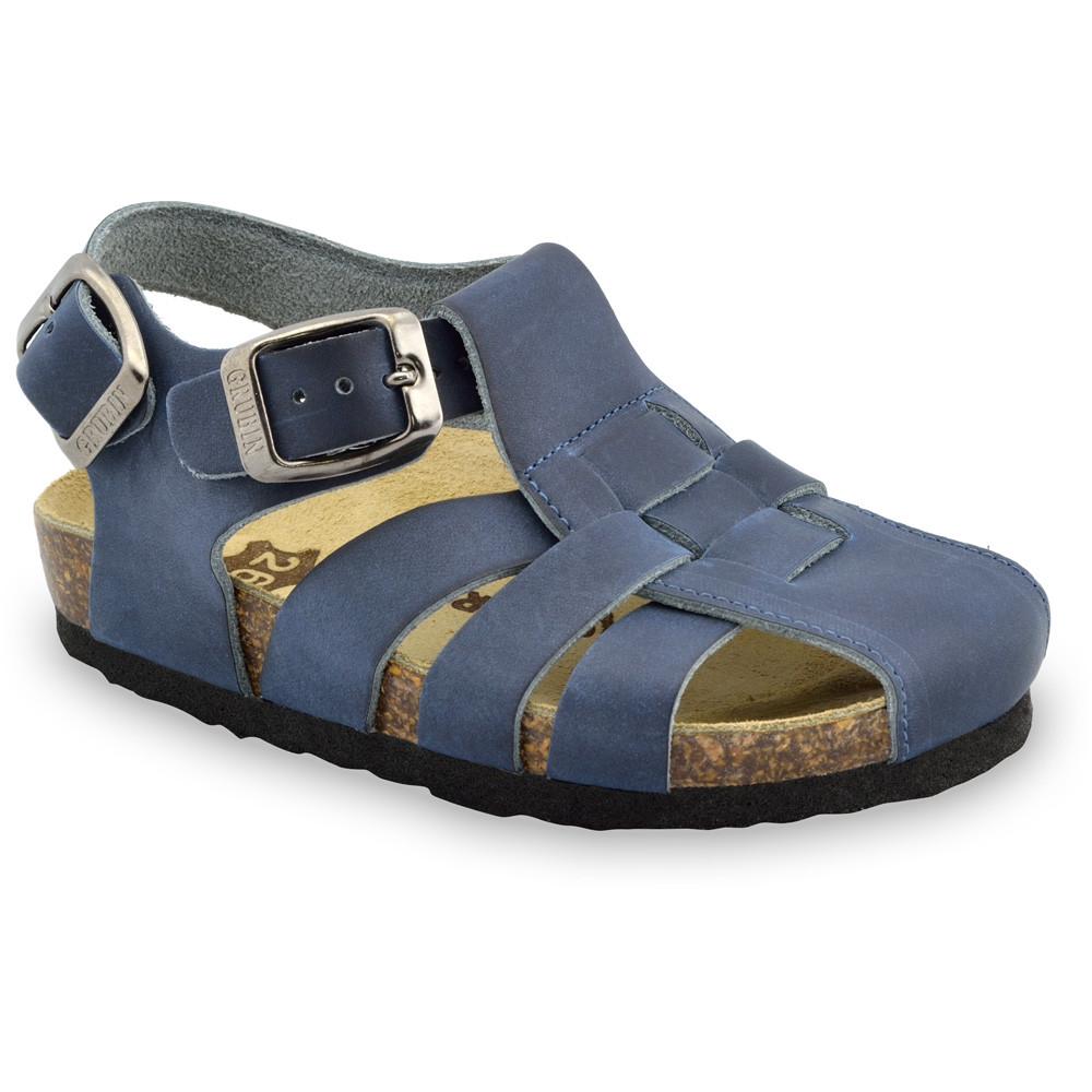 PAPILIO Kids sandals - leather (23-30) - blue, 26