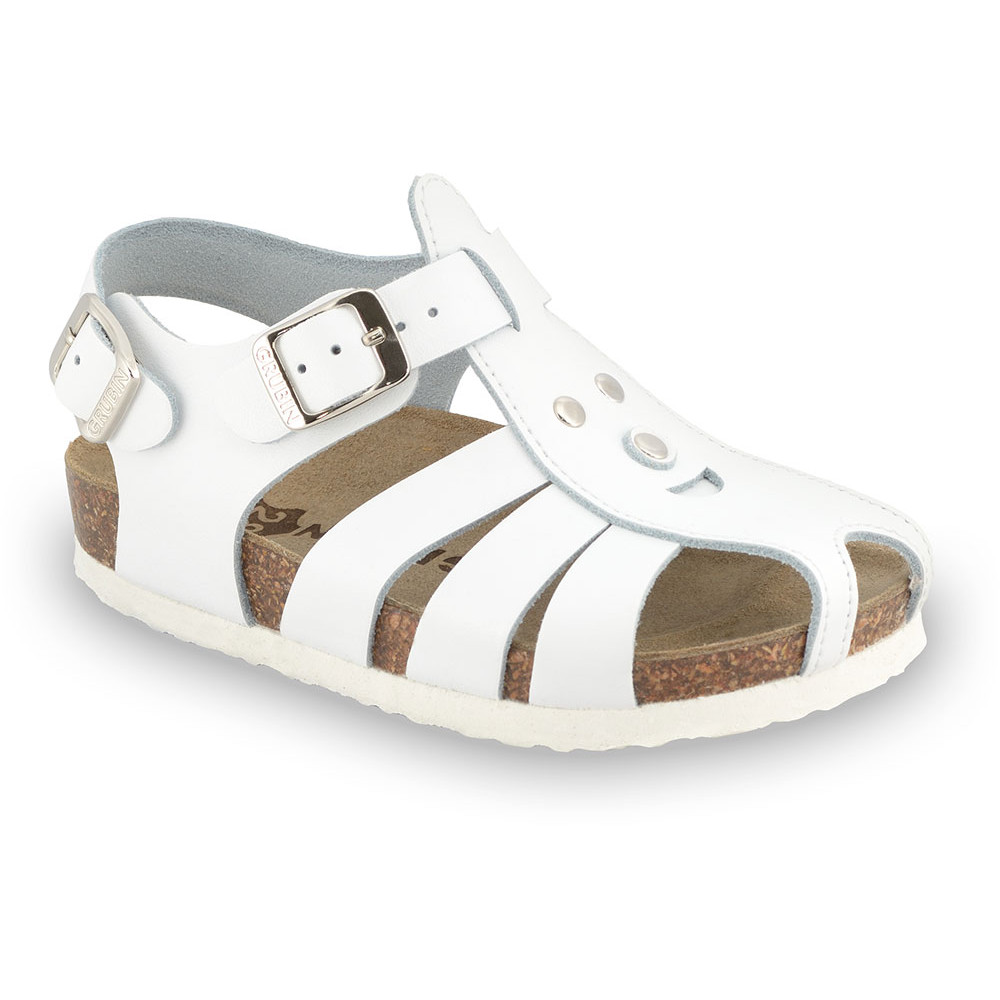 FUNK Kids sandals - leather (23-30) - white, 23