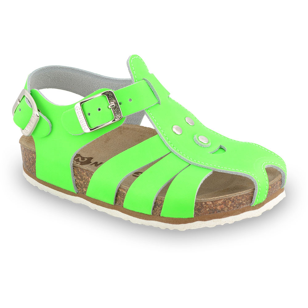 FUNK Kids sandals - leather (23-30) - green signal, 23