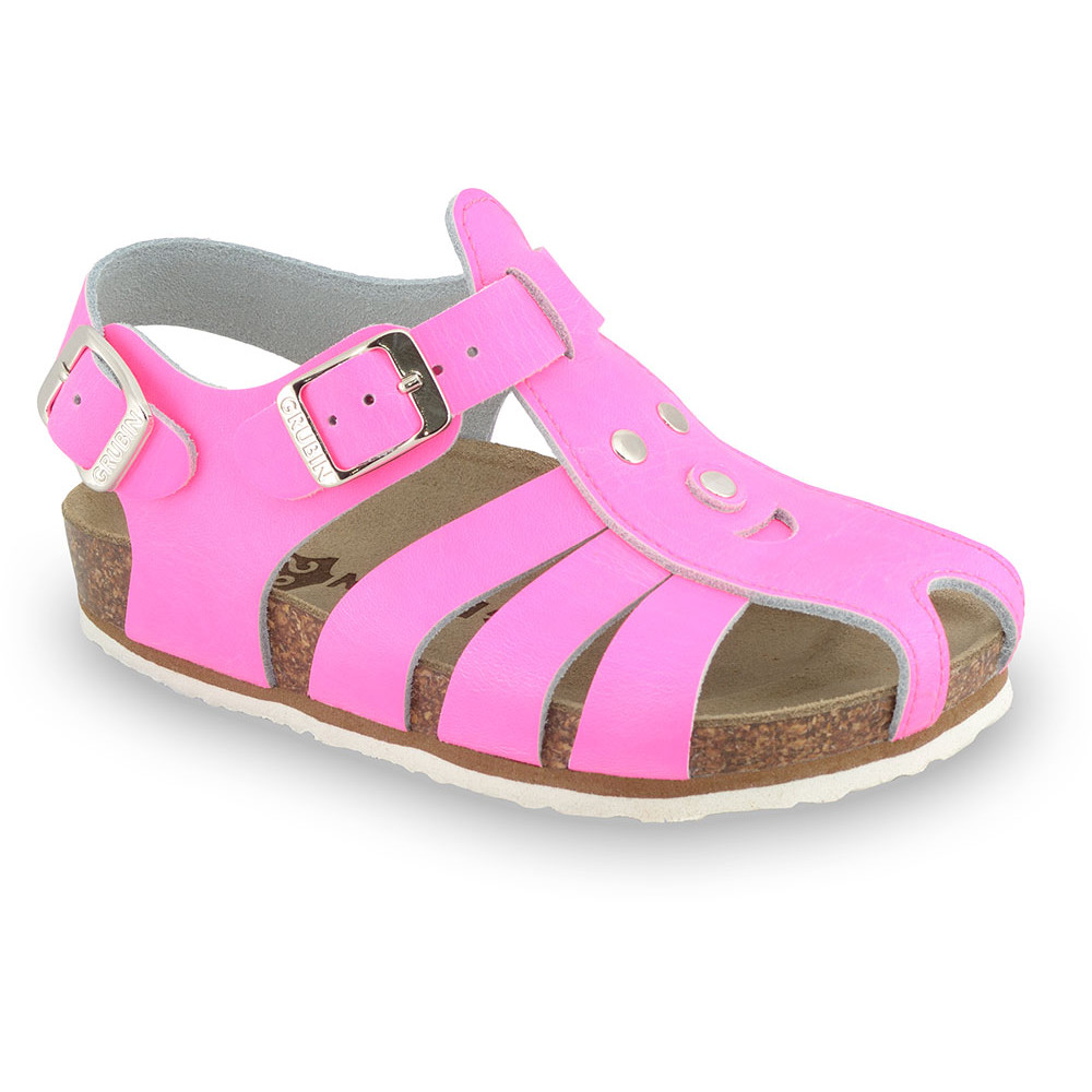 FUNK Kids sandals - leather (23-30) - pink signal, 25