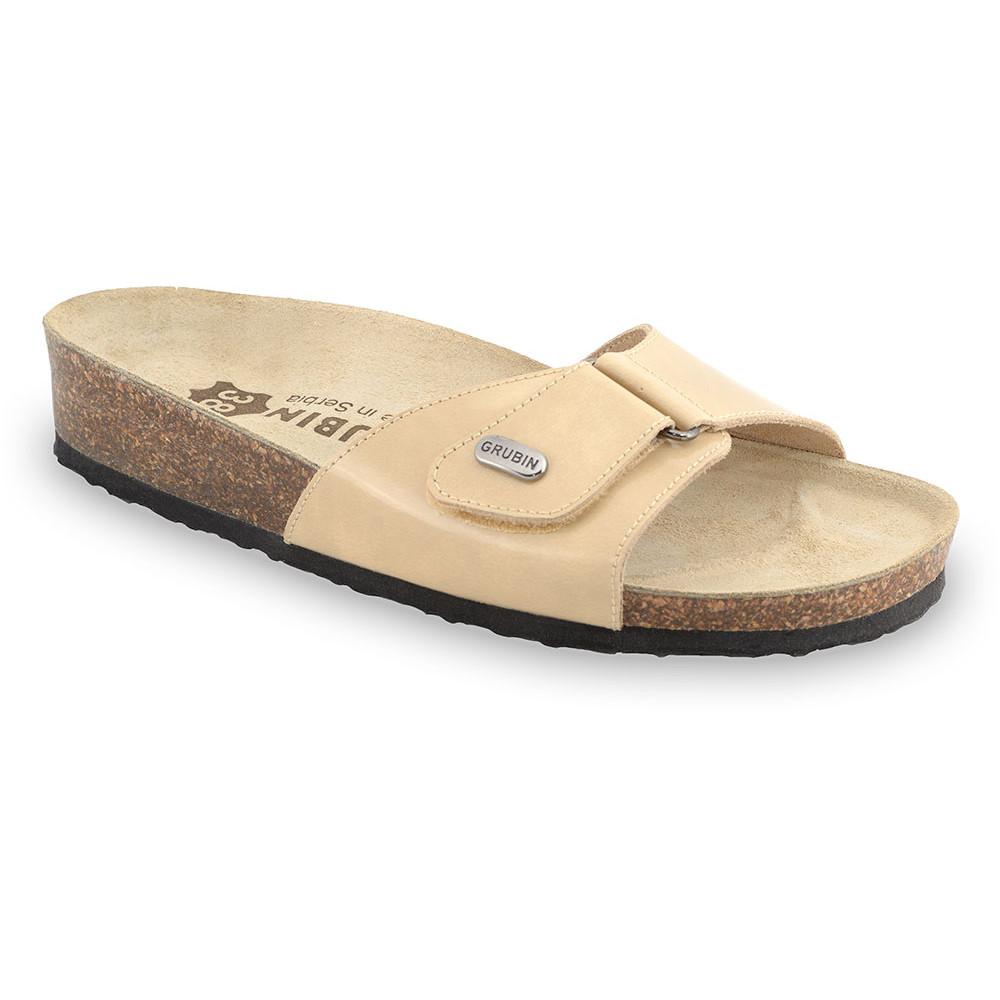 BRIGITTE Women's slippers - leather (36-42) - cream, 37