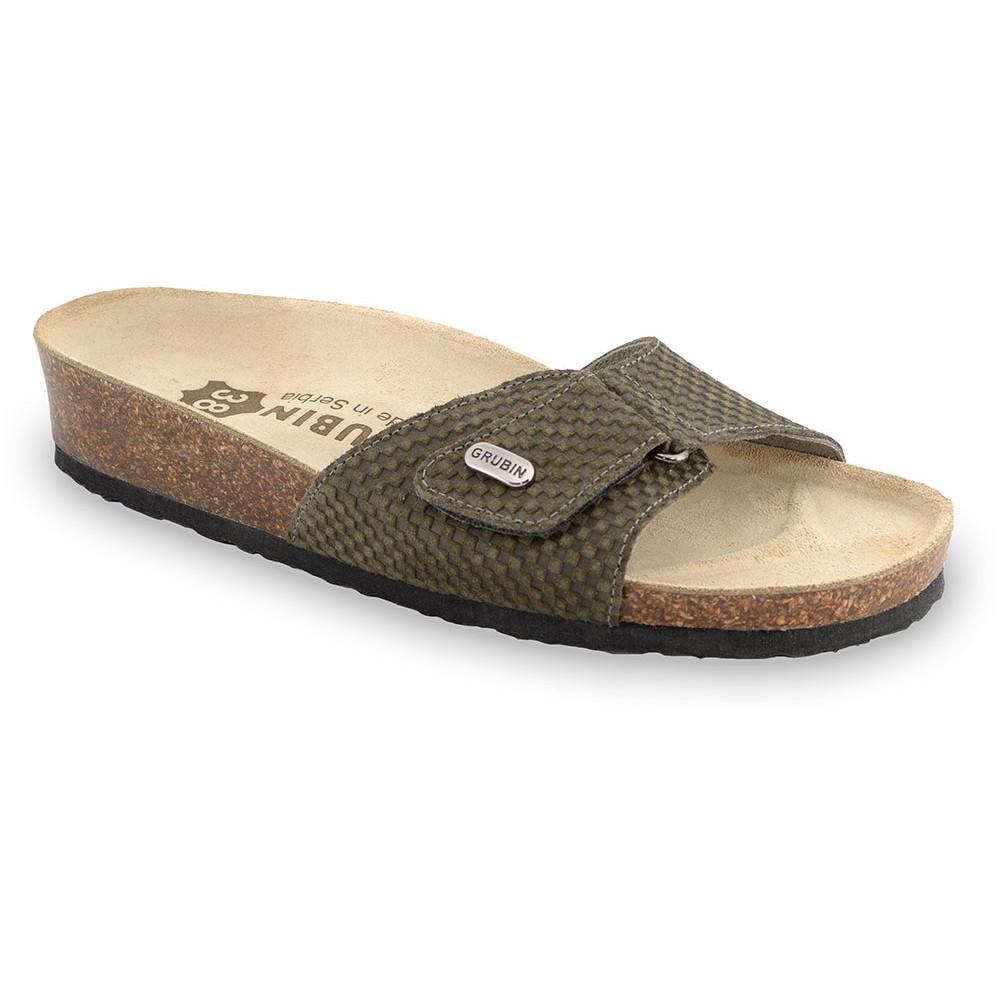 BRIGITTE Women's slippers - leather (36-42) - green, 39