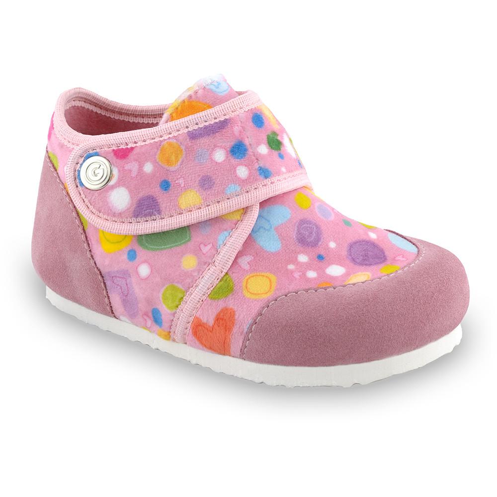 KINDER Kids winter domestic footwear - plush (23-35) - pink, 32