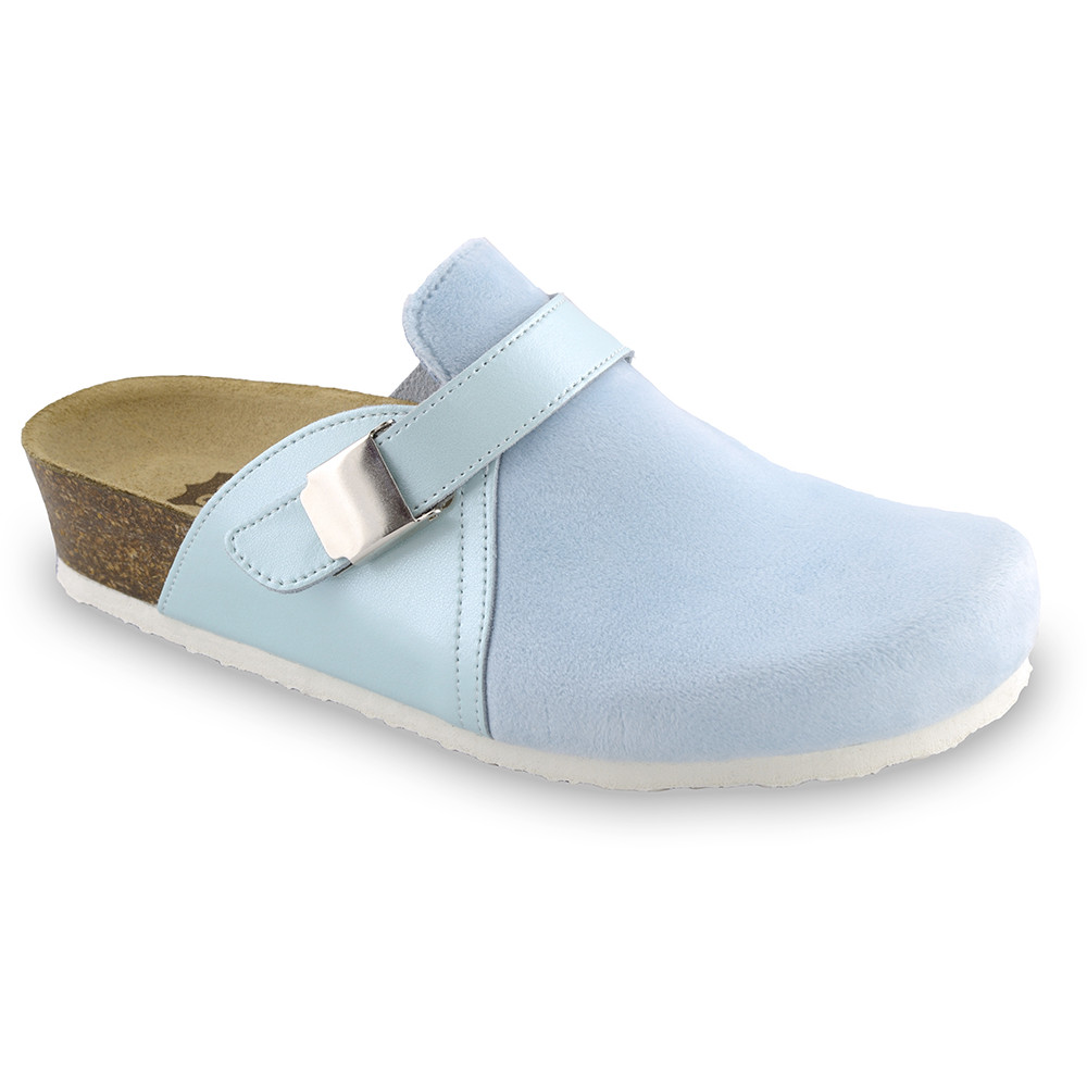 INDIO Women's closed slippers - plush (36-42) - light blue, 38