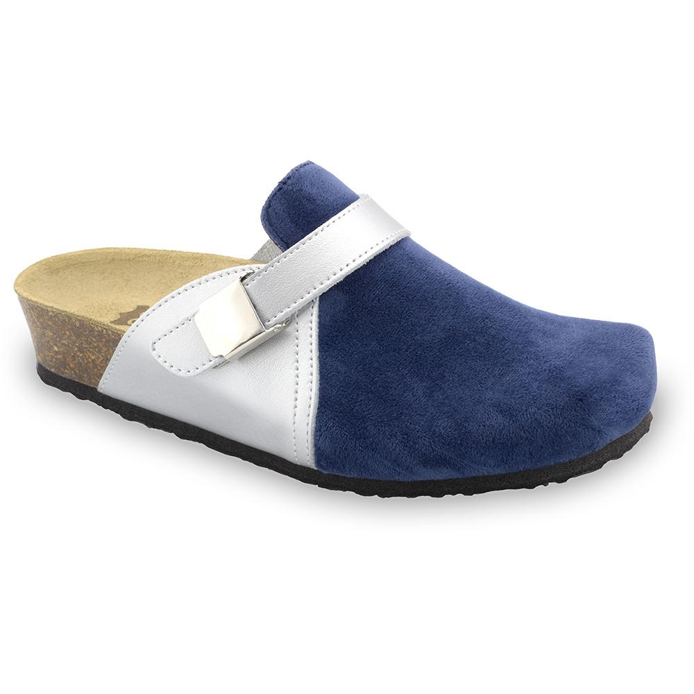 INDIO Women's closed slippers - plush (36-42) - blue, 41