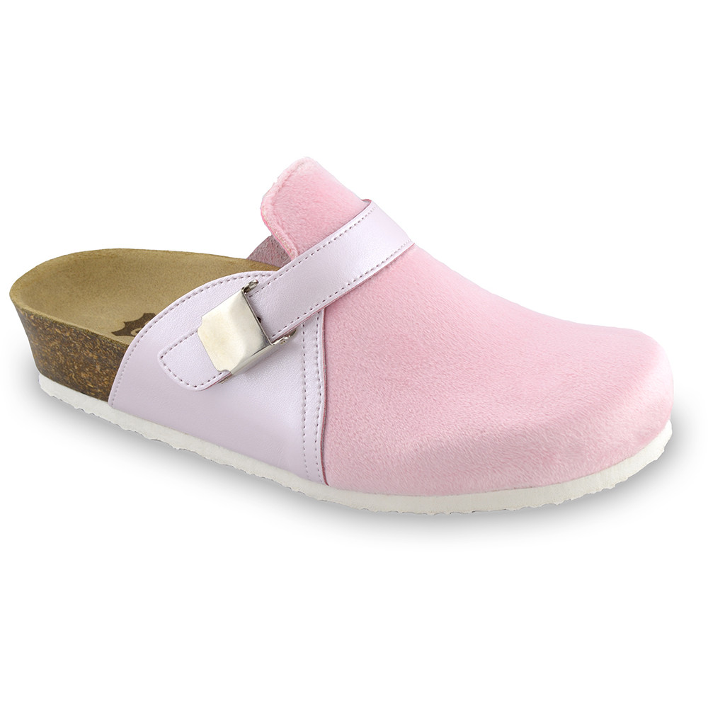 INDIO Women's closed slippers - plush (36-42) - pink, 41