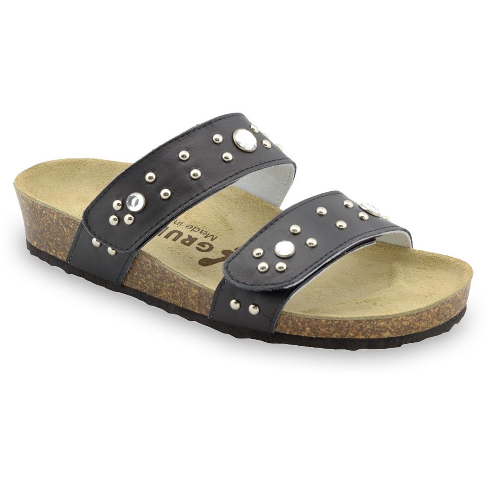 MALTA Women's slippers - leather (36-42) - black, 42