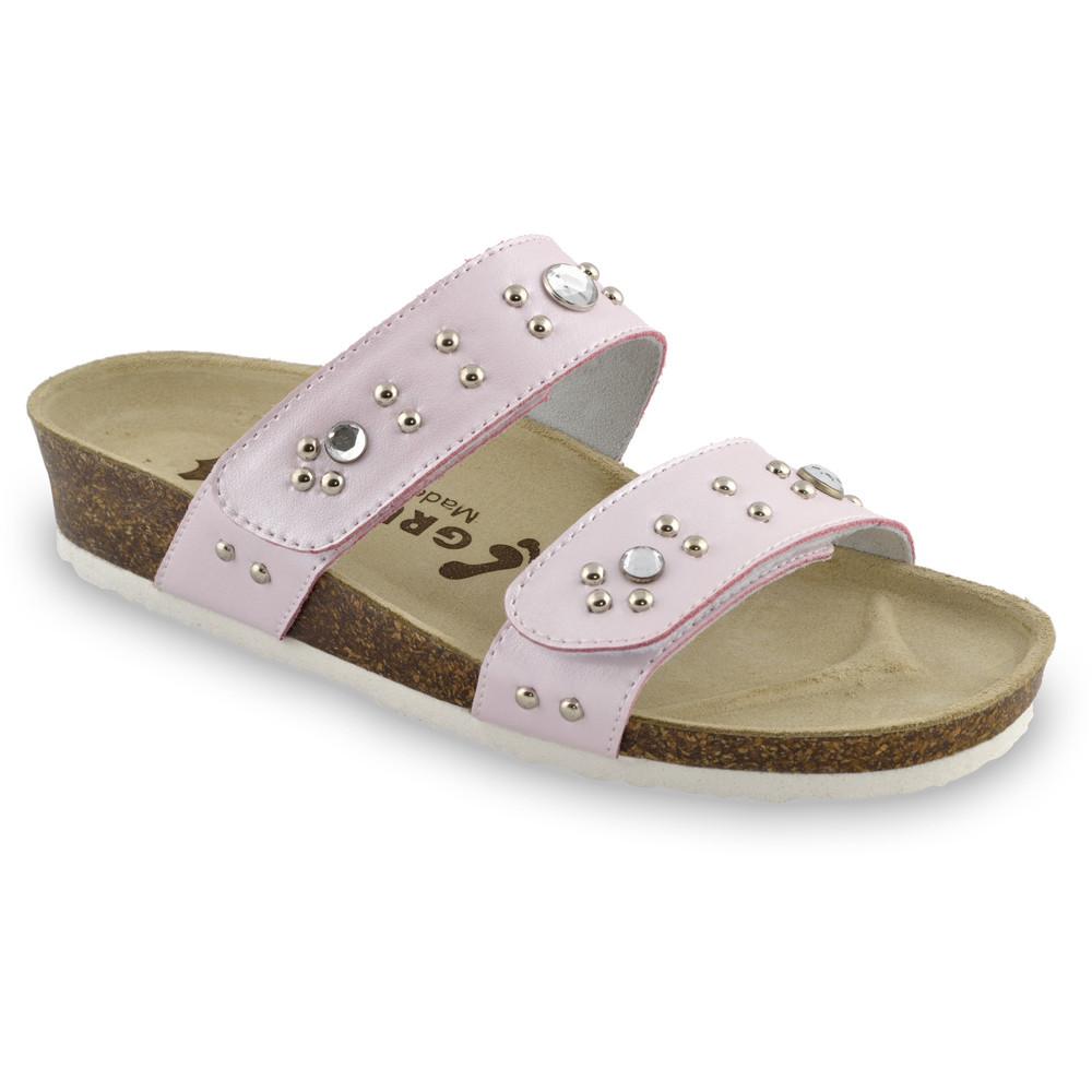 MALTA Women's slippers - leather (36-42) - pink, 39