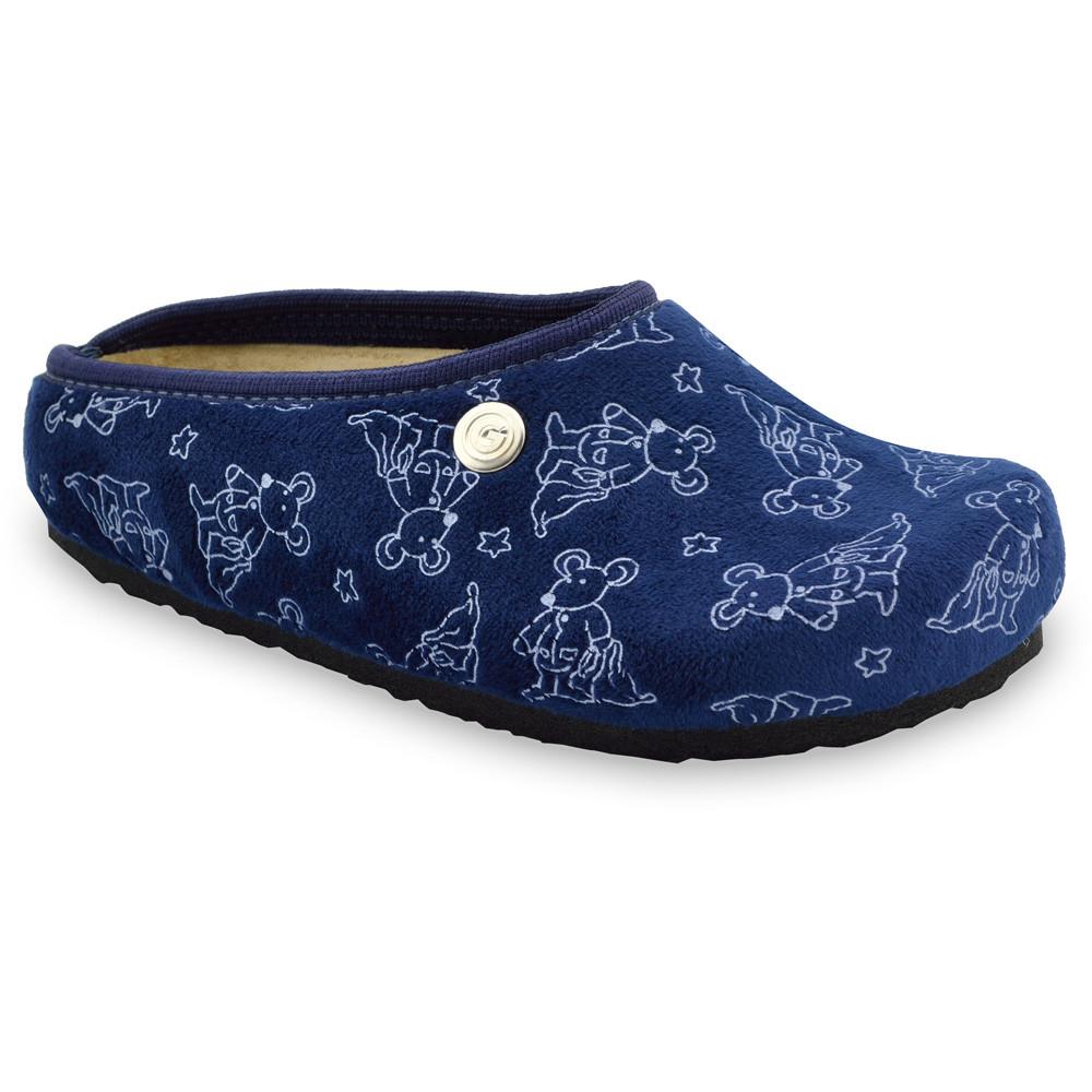 RABBIT Kids flip flops - plush (30-35) - blue, 33