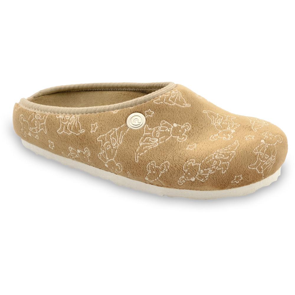 RABBIT Kids flip flops - plush (30-35) - brown, 32