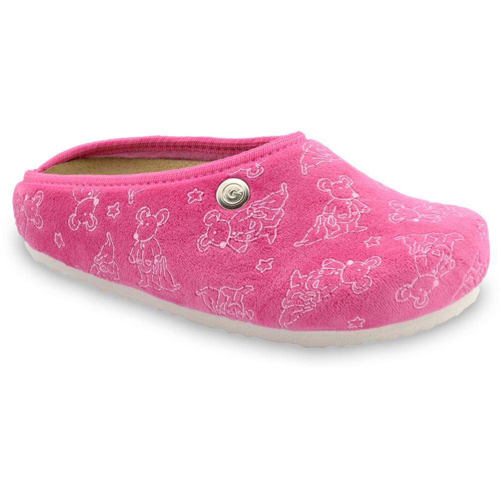 RABBIT Kids flip flops - plush (30-35) - pink, 34
